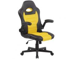 Paal Office Furniture - Poltrona sportiva da ufficio John Nero/giallo