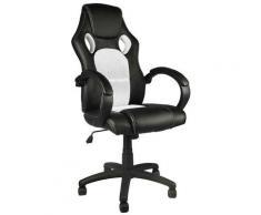 Sedia Poltrona Da Ufficio Direzionale Ruote Girevoli Sportiva Racer Gaming Grey