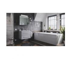 Emotion - Set di mobili da bagno Firenze 70 2 parti grigio cemento e armadio specchio