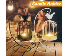 Iron Craft Hanging Candle Holder Lanterna Romantic Lovers Portacandele Decor per regalo di
