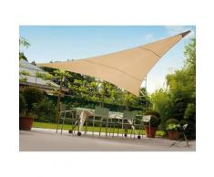 Tenda telo vela ombreggiante Triangolare Colore Ecrù Beige Dimensioni 3,6x3,6x3,6 m