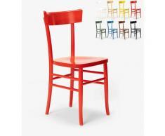 Sedia in legno classica rustica per sala da pranzo cucina bar ristorante Milano   Rosso