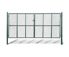 vidaXL Cancello a Rete per Giardino 415 x 225 cm / 400 x 175 cm - Verde