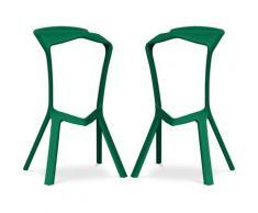 Sgabello Design Marcus - Pack di 2 Verde scuro