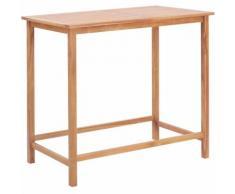 Tavolo da Bar per Esterni 120x65x110 cm Massello di Teak