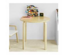 Tavolino Bambini Rotondo in Legno massello di Betulla Classe E1 Diametro 60 cm Altezza 57 cm