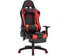 Poltrona Professionale Gaming LED Turbo Nero/rosso Similpelle