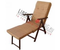 Poltrona MOLISANA reclinabile 4 posizioni con prolunga poggiapiedi SABBIA Sabbia
