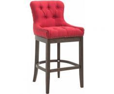 CLP - Sgabello Buckingham stoffa antico-scuro Rosso