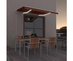 Tenda da Sole Automatica LED Sensore Vento 350x250cm Arancione - Arancione - Vidaxl