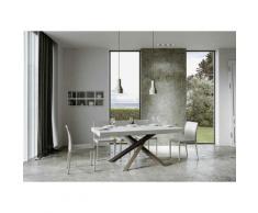 Itamoby S.r.l. - Tavolo Volantis Allungabile piano Bianco Lucido 90x180 allungato 284 telaio 4/C