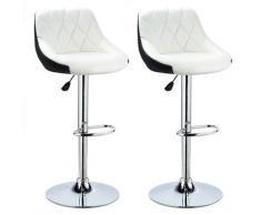 Sgabello da bar facile da pulire, set di 2 con sedile ben imbottito, sedia da bar in pelle