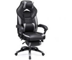 Sedia da Ufficio con Sedile Largo, Altezza Regolabile, Design Ergonomico OBG77BG