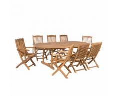 Set da giardino in legno di acacia per 8 persone MAUI