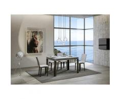 Itamoby S.r.l. - Tavolo Linea Allungabile piano Cemento 90x130 allungato 234 telaio Antracite