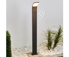 Lampione Timm, con LED, sensore di movim., 100 cm