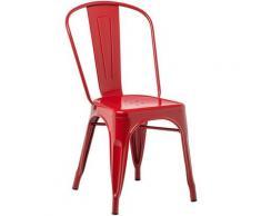 SKLUM Pack 4 Sedie LIX Rosso Sala da Pranzo Cucina Bar Stile Industrial