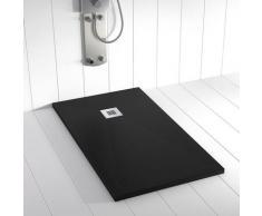 Piatto doccia ardesia pietra PLES Nero - 100x110 cm
