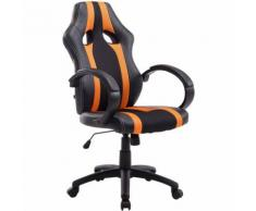 Paal Office Furniture - Sedia da ufficio racing Vettel in similpelle Nero/arancione