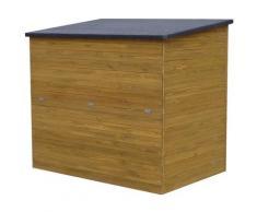 Cassapanca da giardino in legno Caja - 137 x 91 x 121 cm - Marrone