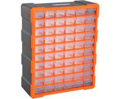 DURHAND Cassettiera Box per Accessori Minuteria Arancione 38x16x47.5cm