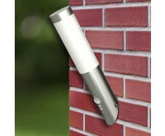 Lampioncino moderno in acciaio inox, sensore di movimento VD23745