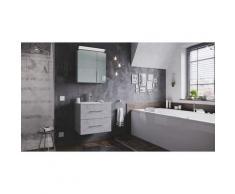 Set di mobili da bagno Firenze 60 2 parti grigio cemento e armadio specchio