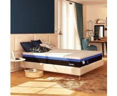 Baldiflex Materasso Molle Insacchettate e Memory Hybrid Bros Piazza e mezza misura 120x190 cm