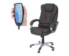 Poltrona massaggio ufficio Blackburn T679 ecopelle nero