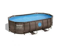 Bestway - Piscina power steel swim vista 56714 ovale in acciaio 427x250x100 cm