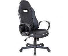 Vinsetto Sedia da Ufficio e Gaming con Rivestimento in Pelle PU Premium Design Ergonomico Nera e
