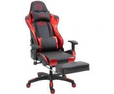 Sedia gaming ufficio Turbo Nero/Brillante Rosso Similpelle (effetto metallizzato)