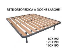 Rete Reti Ortopedica Ortopediche A Doghe Larghe Struttura Tubolare 10 Listelli | 120 X 190