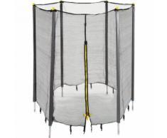 Rete di Protezione per Trampolini Elastici da Giardino, con Sbarre Imbottite, Diametro di 183 cm