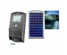 Lampione stradale led 30w pannello fotovoltaico energia solare luce esterno ip65