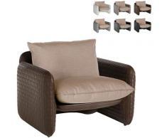 Poltrona lounge design moderno Mara trama cuoio interno esterno | Colore: Marrone - Slide