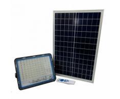 Faro led 200W con pannello solare luce fredda faretto esterno led casa 58200
