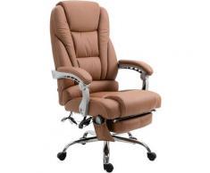 Sedia da ufficio massaggiante PACIFIC Marrone chiaro
