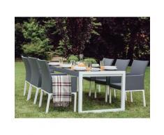 Beliani - Set di tavolo e 6 sedie da giardino in alluminio grigio BACOLI