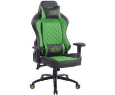 Sedia Gaming Rapid in Similpelle Nero/verde