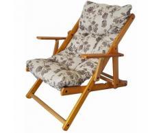 Poltrona HARMONY da giardino in legno reclinabile in 3 posizione FLOREALE (Floreale)