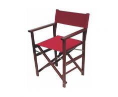 Sedia pieghevole MX in legno Colore fusto - Nero, Colore tessuto - Bordeaux