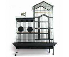 Voliera gabbia per uccelli pappagalli GREY