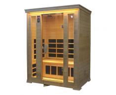 Sauna Finlandese Ad Infrarossi 3 Posti 156x125 Cm In Legno Di Cedro H188 Vorich Diamond