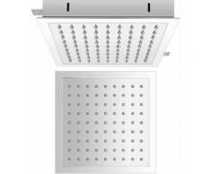 Hudson Reed Trenton Soffione Doccia Fisso - Design Quadrato ad Incasso da Soffitto - Acciaio Inox