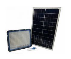 Faro led 300W con pannello solare luce fredda faretto led fo-58300 casa giardino