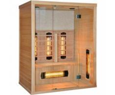 Essence Arredo Bagno - Sauna Infrarossi in legno Hemlock per 3 persone 150x110 | Stone