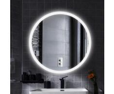 Specchio per Il Trucco, Bagno a Specchio Rotondo con Illuminazione a LED, Design a Specchio con