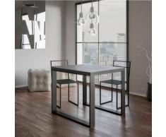 Itamoby S.r.l. - Tavolo Tecno Libra Cemento 90x90 allungato 90x180 telaio Antracite