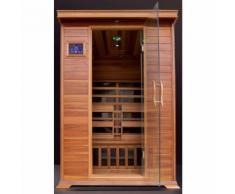 Sauna a Infrarossi GREY in Legno per 2 persone 120x115